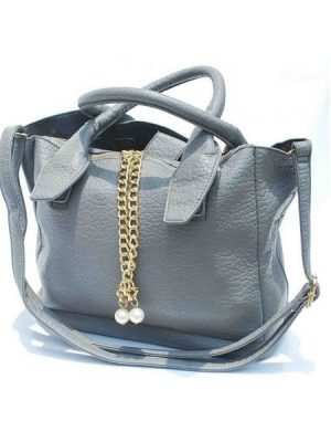 Luxury Shoulder Wing Bat Bag – Grey