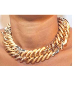 Fashion Chunky Chain Necklace – Gold Plated