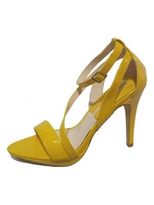 Patent Strappy Shoe – Yellow