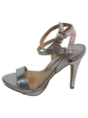 Elegant Double Buckle Ankle Strap – Silver