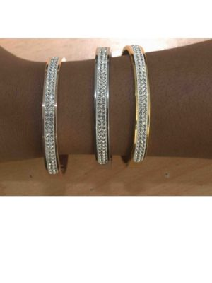 Gold Plated Sparkle Bangles