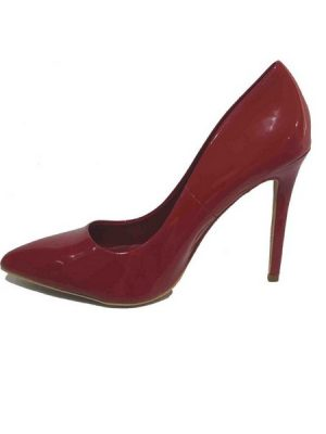 Patent Court Shoe – Red