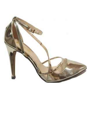 Gold Fashion Court Shoe