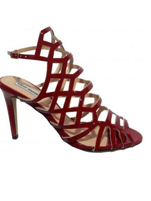 Sexy Caged Sandal – Red