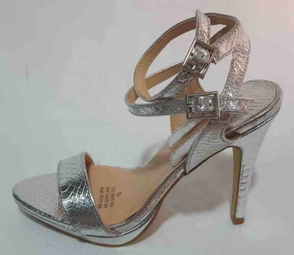 Elegant Double Buckle Ankle Strap - Silver