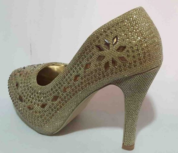 Classic Beaded Pumps - Gold